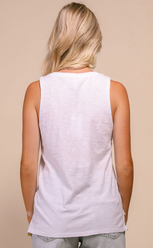 z supply: sunset star tank - white