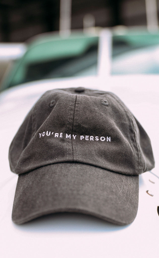friday + saturday: you're my person hat