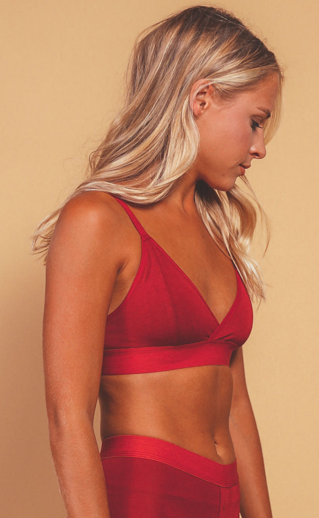 richer poorer: classic bralette - red velvet
