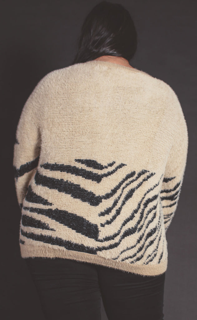 walk on the wild side knit sweater khaki - extended