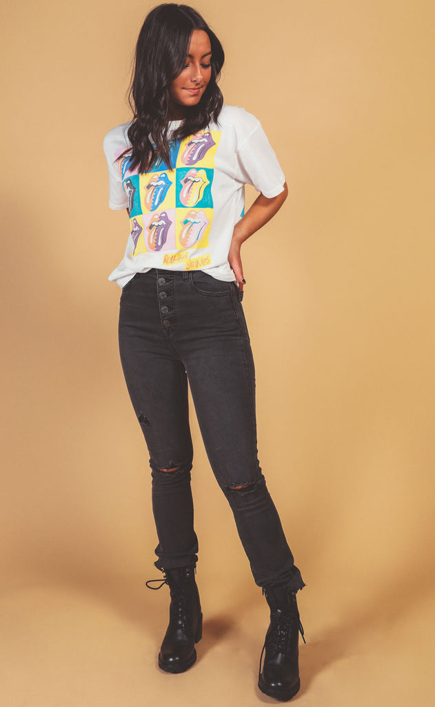 daydreamer: rolling stones urban jungle boyfriend tee