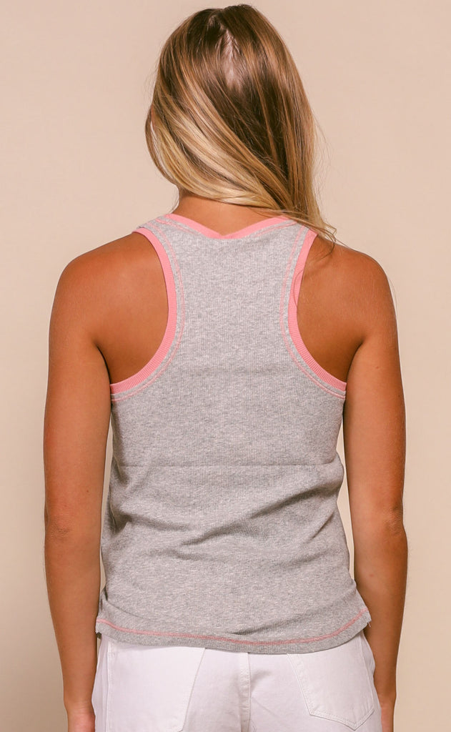 z supply: celia ribbed tank - heather grey