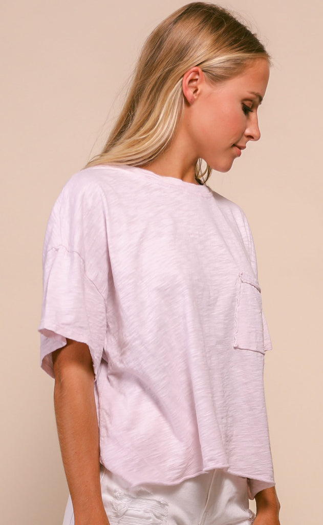 perfectly vintage oversized tee - lavender