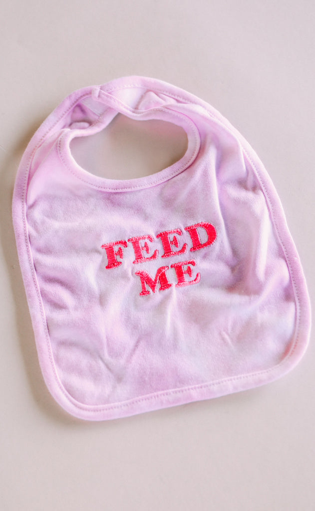 feed me bib - purple