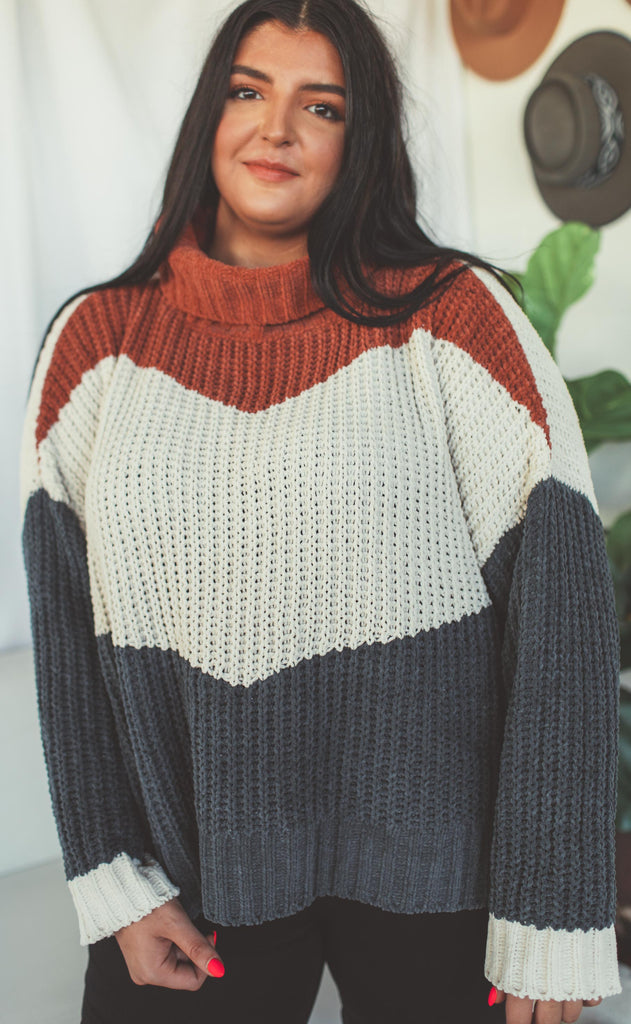 block to block knit sweater - extended