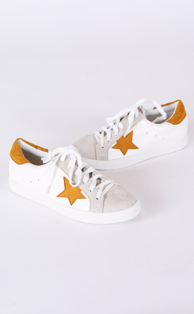 walk of fame sneaker - mustard