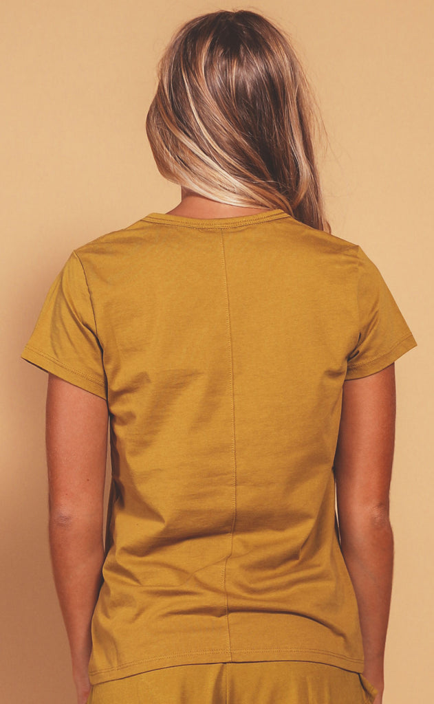 richer poorer: classic short sleeve tee - golden verde