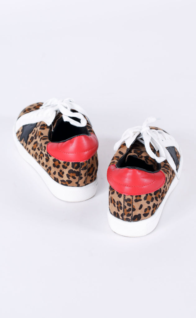 walk of fame sneaker - leopard