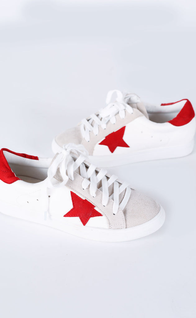 walk of fame sneaker - red