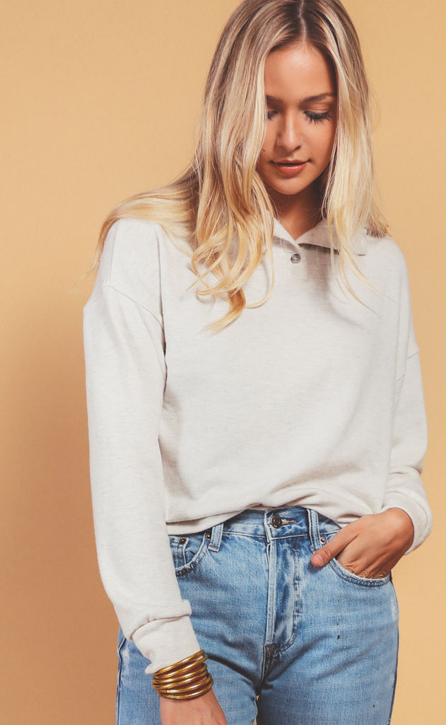 project social t: eleani long sleeve - oatmeal
