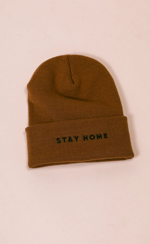 friday + saturday: stay home beanie