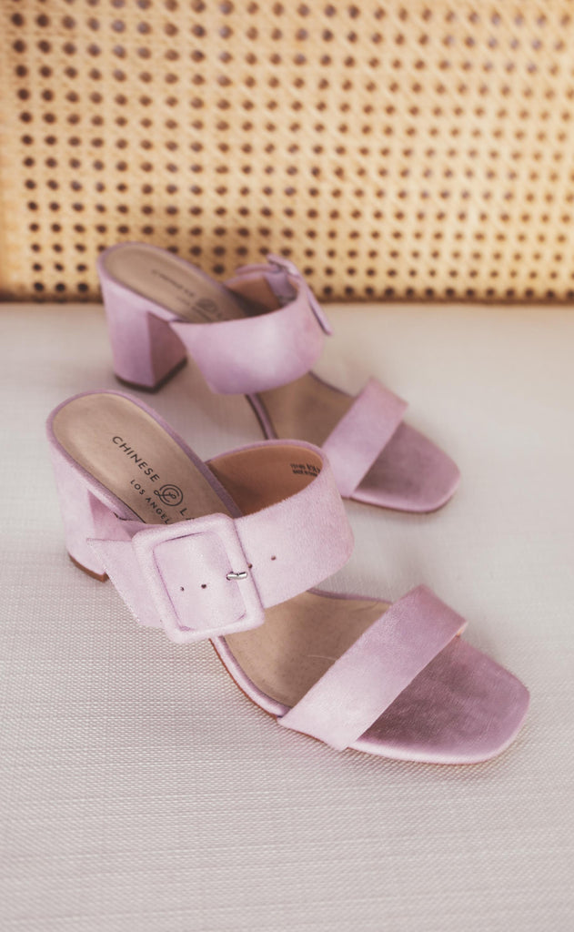 chinese laundry: yippy slide sandal - lovely lilac