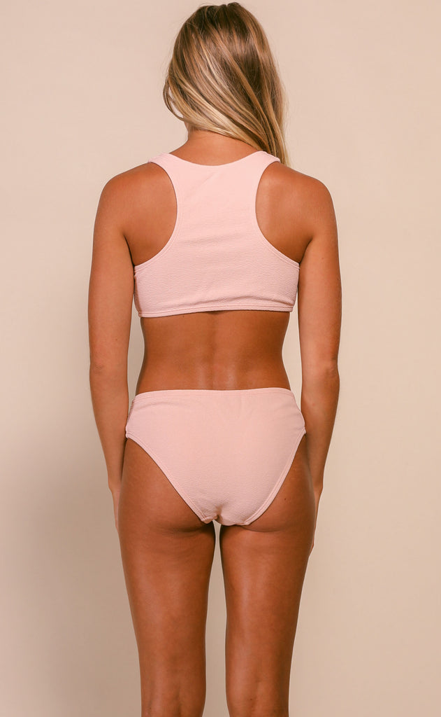 cut it out bikini set - blush