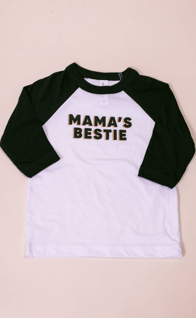 friday + saturday: mama's bestie toddler raglan
