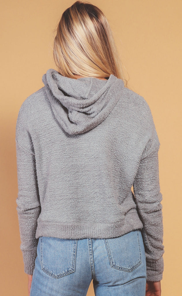 z supply: kacey feather hoodie - heather grey