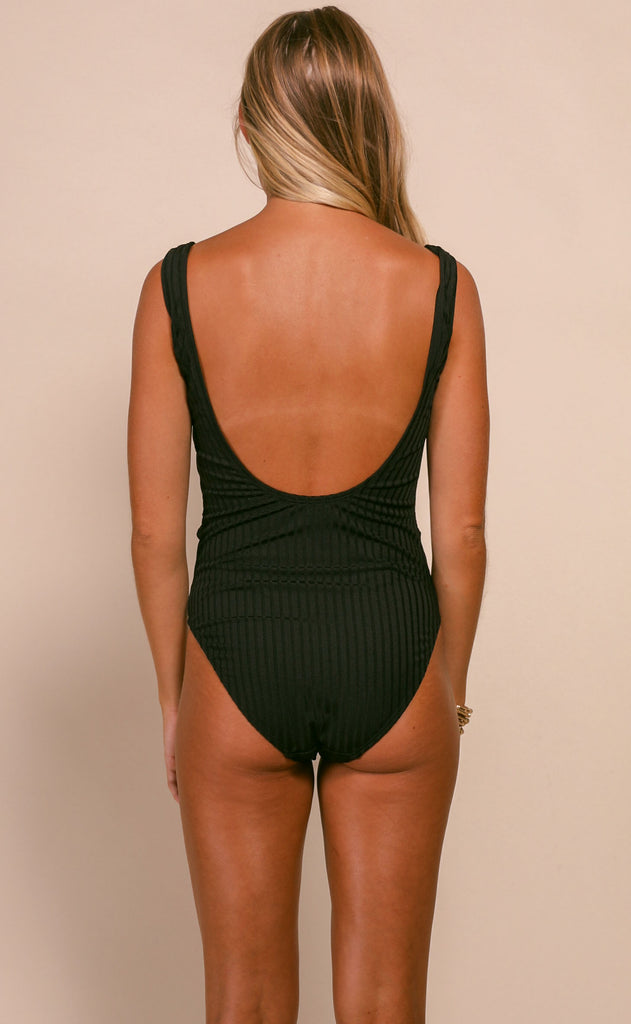 summer forever one piece swimsuit - black