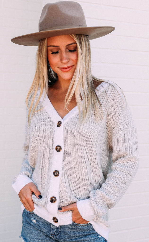let's get knit button up cardigan