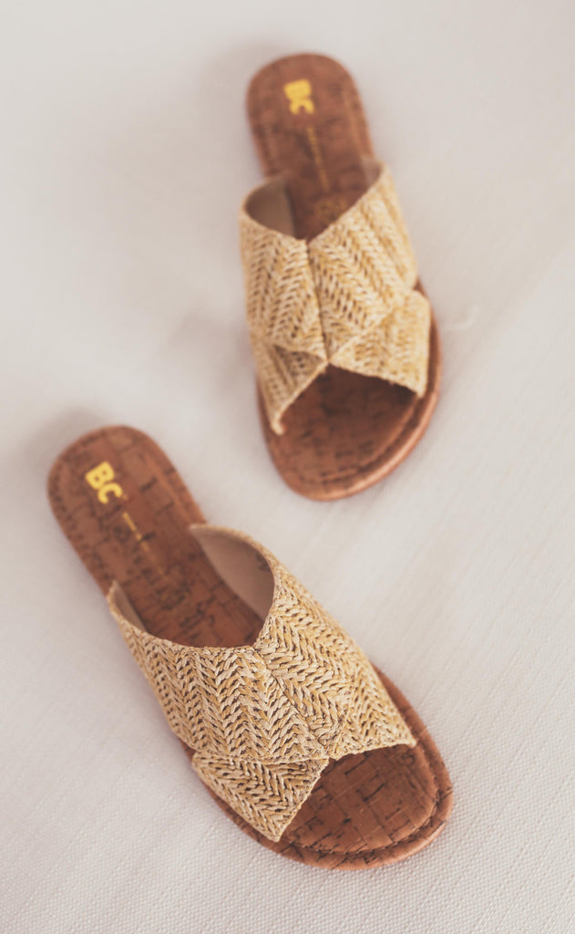bc footwear: fierce sandal - natural raffia