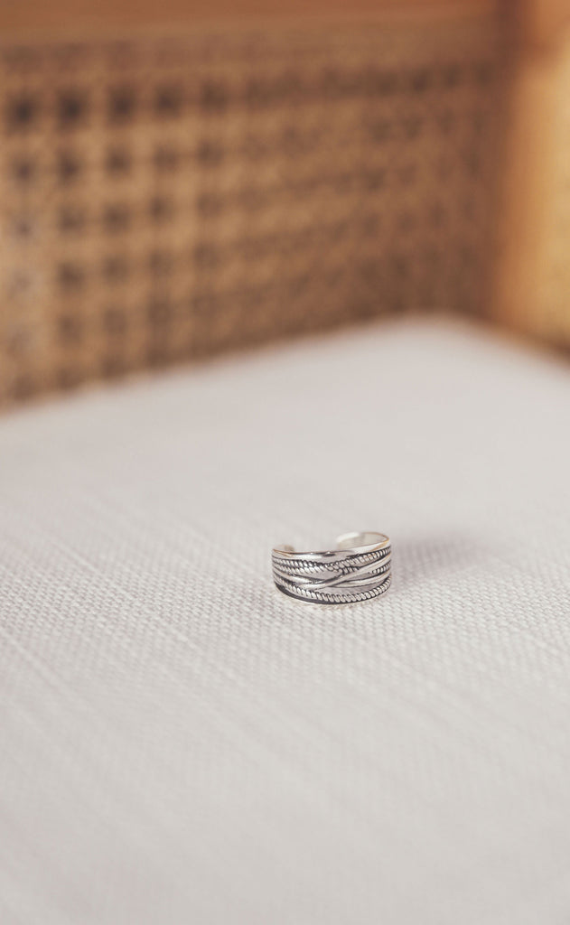 so twisted sterling silver ring