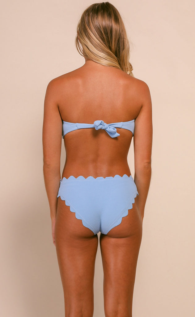 summer solstice scalloped bikini set - blue