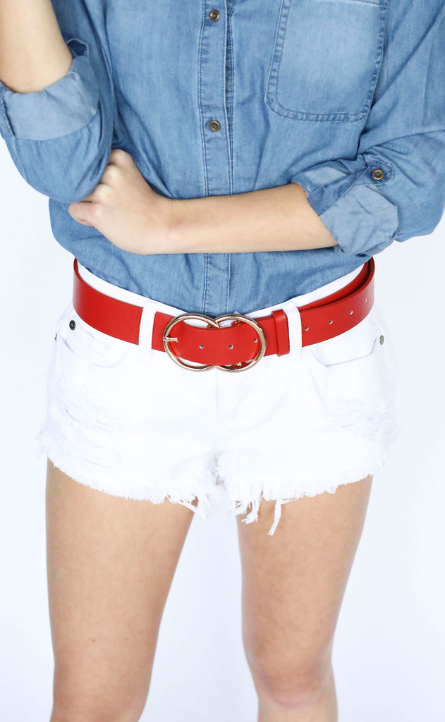 circle up belt - red