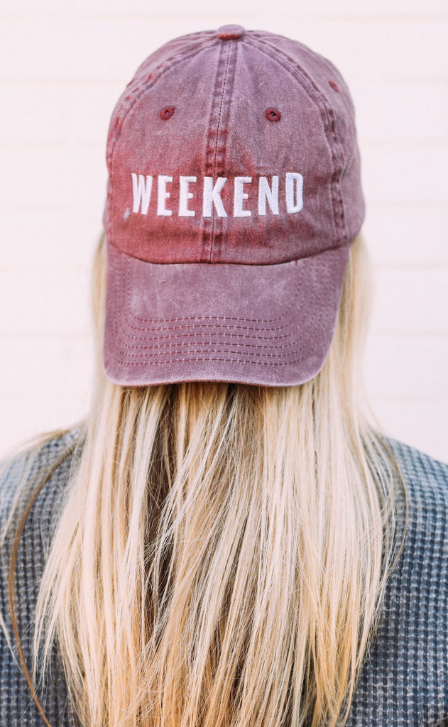 friday + saturday: weekend hat