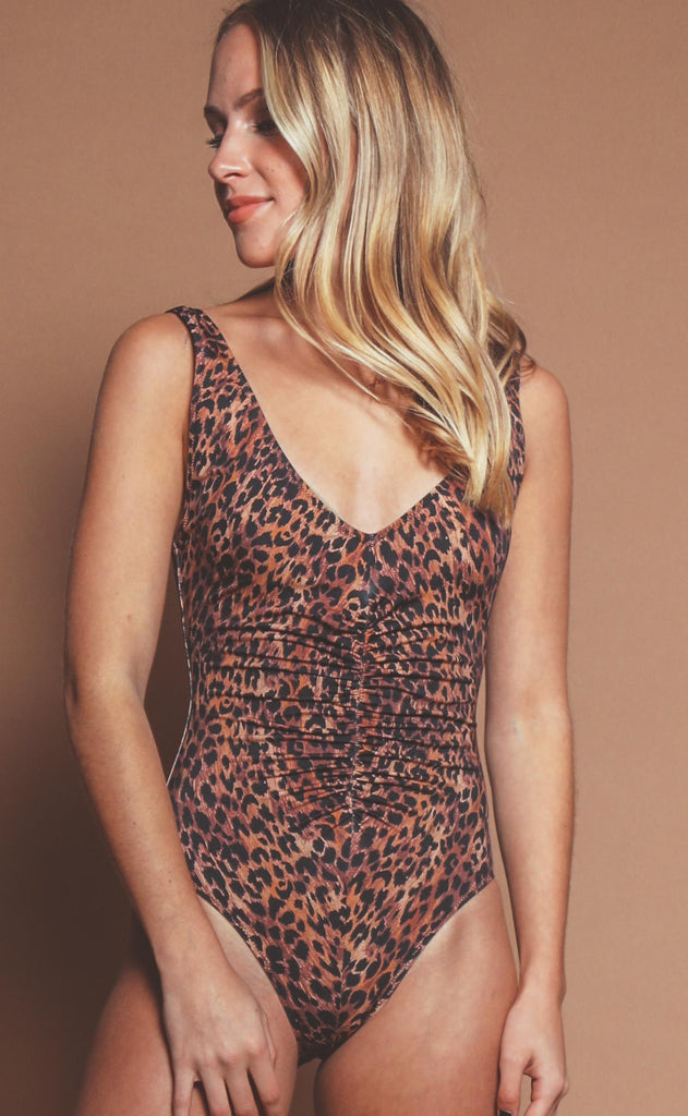 solid & striped: lucia one piece - leopard