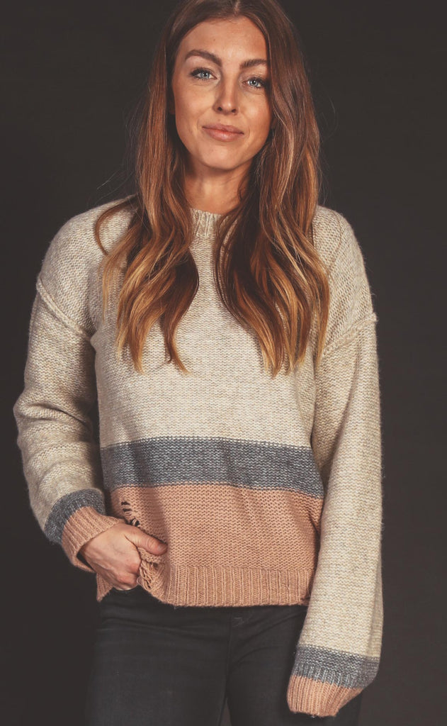 great escape distressed sweater
