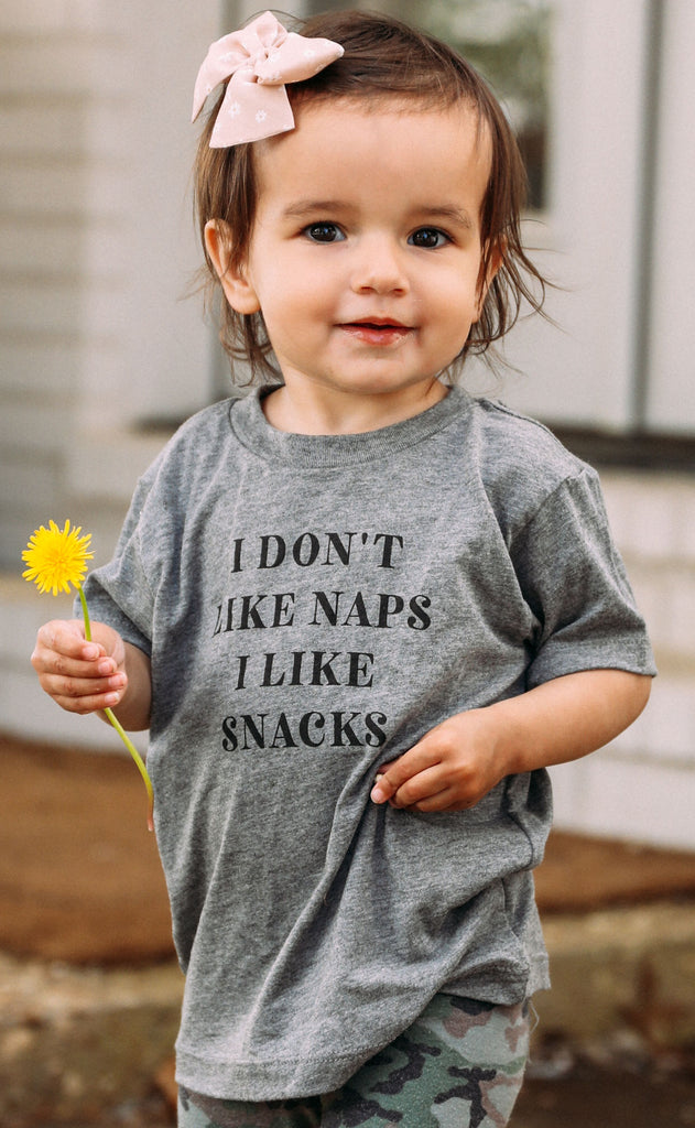 charlie southern: naps + snacks toddler tee