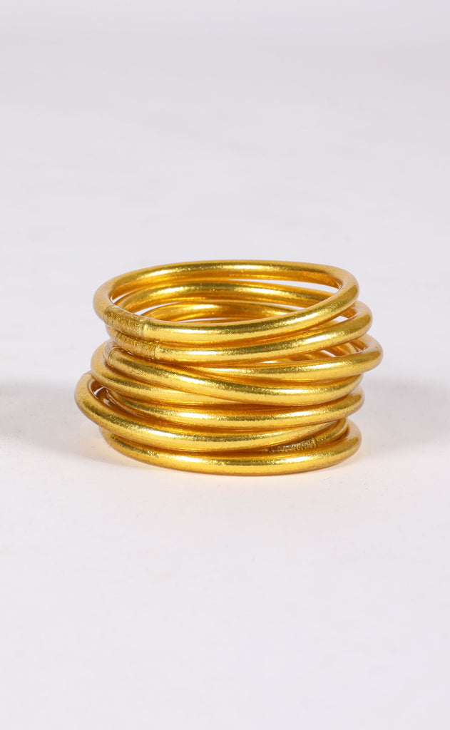 budha girl bangles - gold