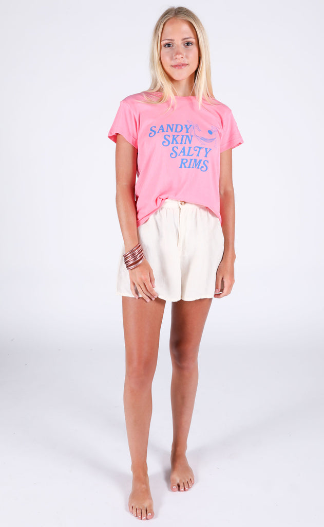 wildfox: no9 tee - salty rim
