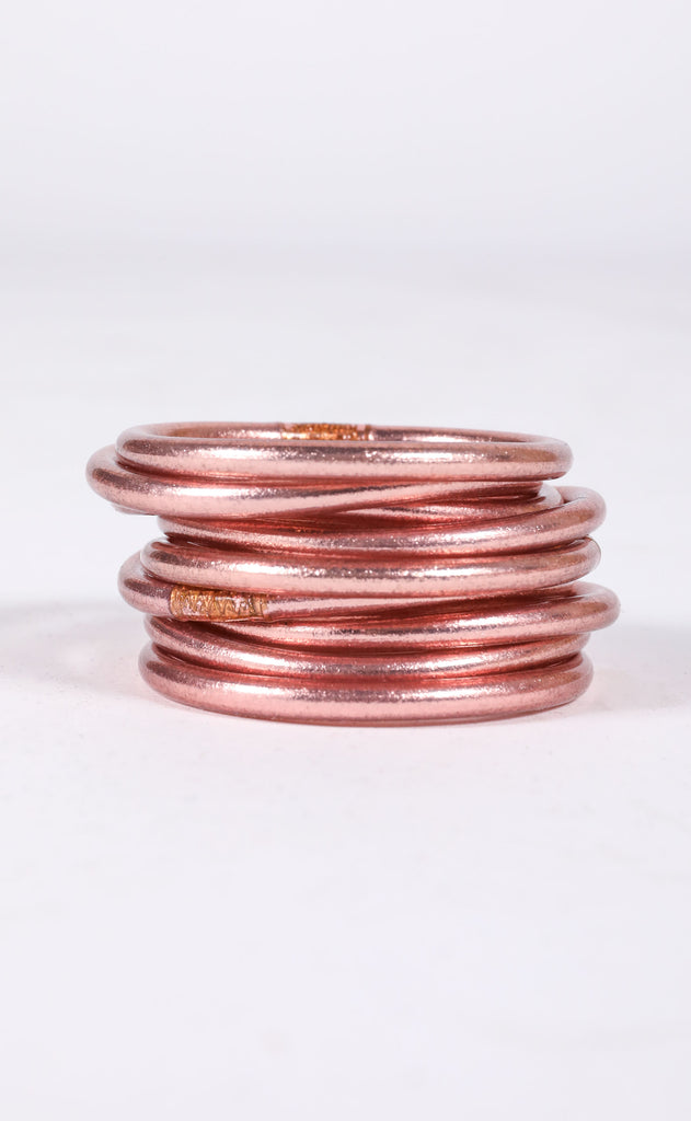 budha girl bangles - rose gold