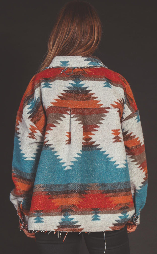 fireside printed jacket