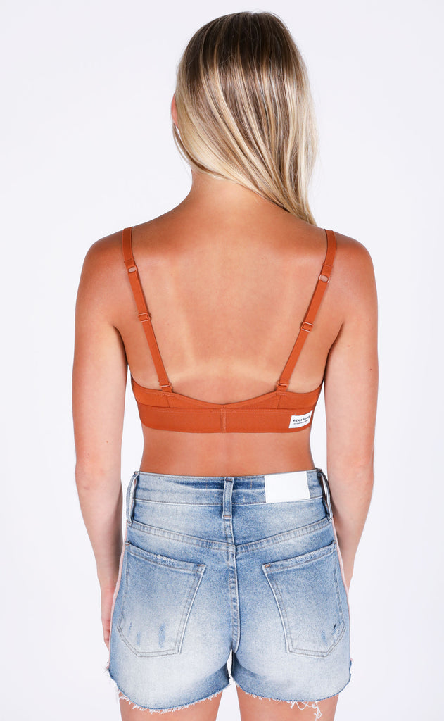 richer poorer: cutout bralette - tobacco
