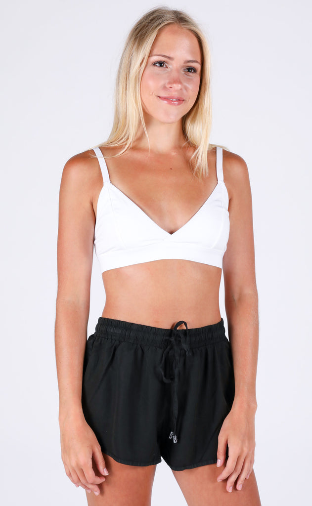 richer poorer: classic bralette - white