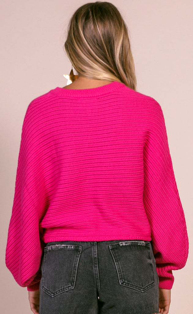 sundown crop sweater