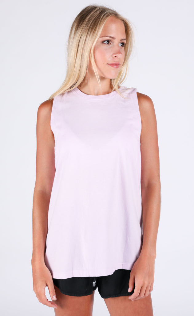 richer poorer: muscle tank - lilac