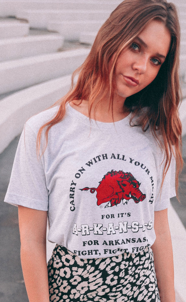 charlie southern: arkansas fight song t shirt