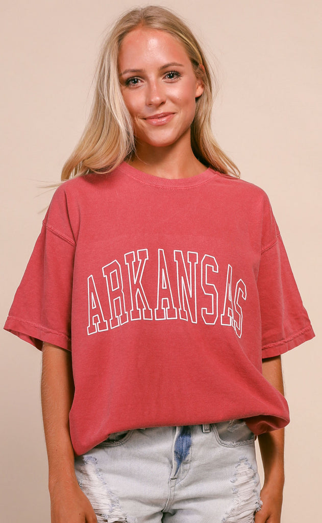 charlie southern: gameday jersey t shirt - arkansas