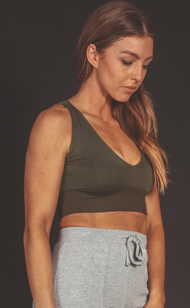 free people movement: rewind bra - army