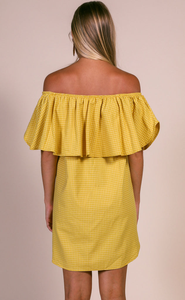 check it out off the shoulder dress