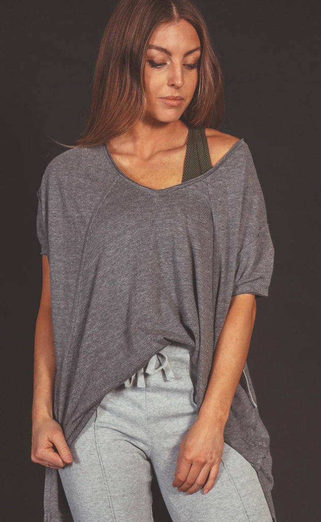 free people movement: city vibes tee - heather grey
