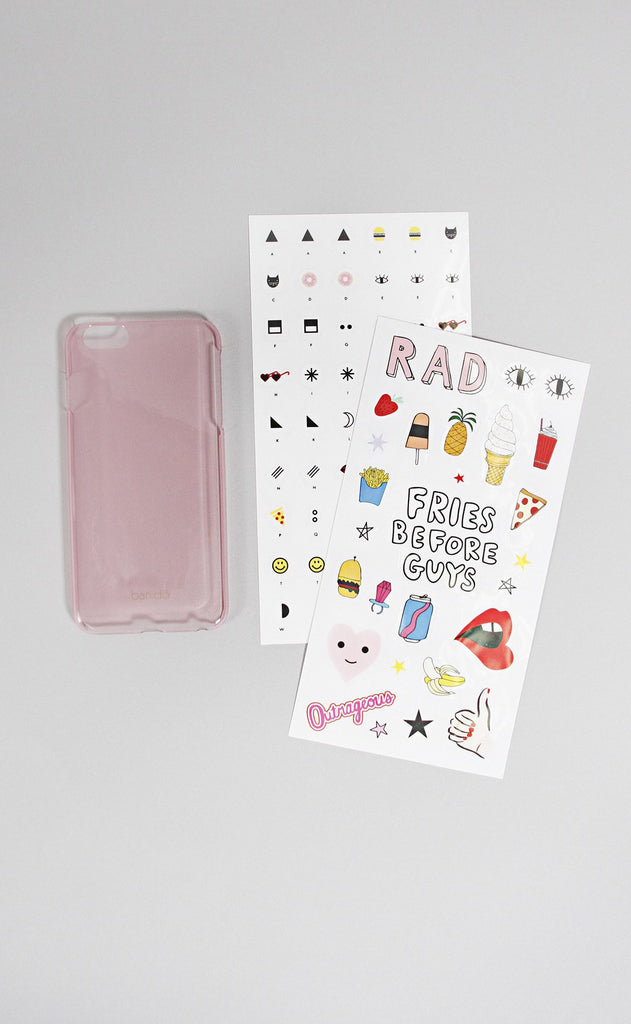 ban.do peek a boo iphone case with stickers - 6/6S plus