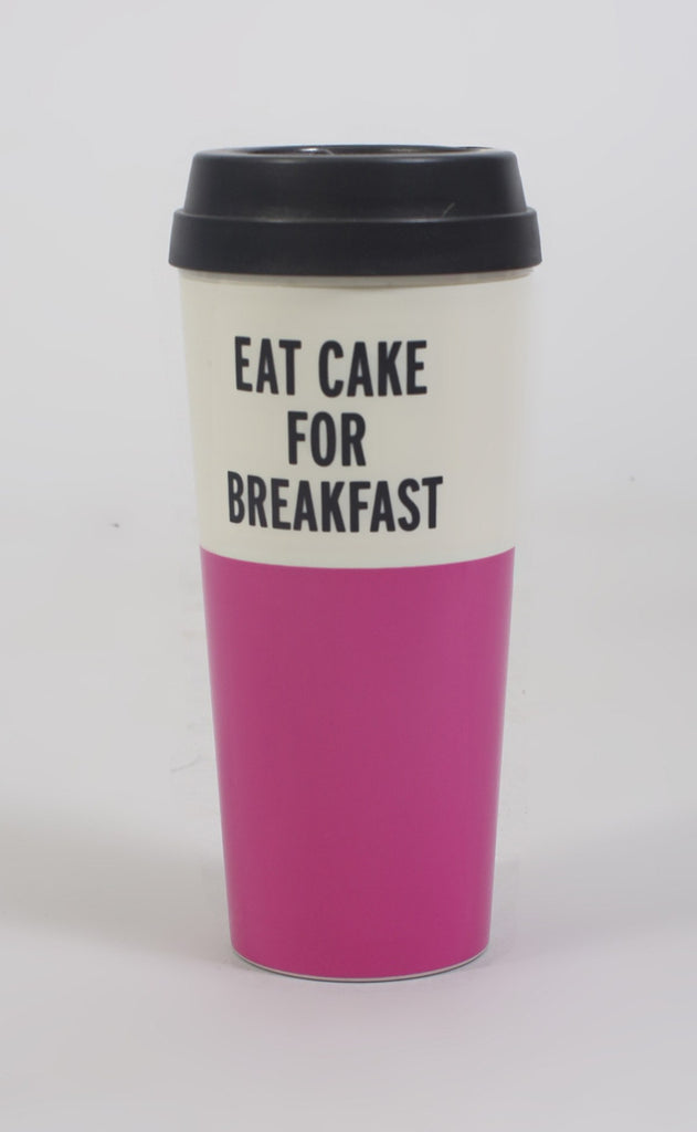 kate spade: thermal mug - eat cake for breakfast