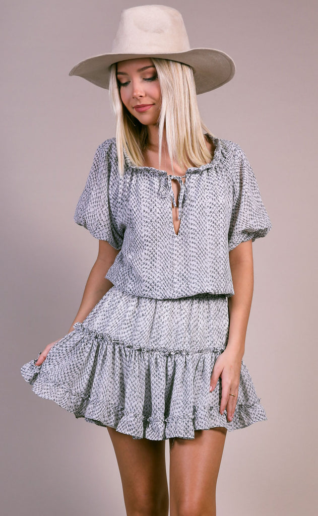 buddy love: ray dress - grey scale