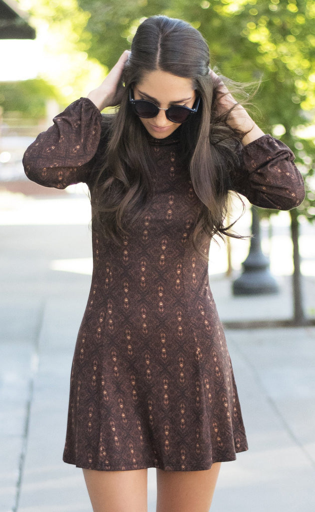 grin and flare it printed dress