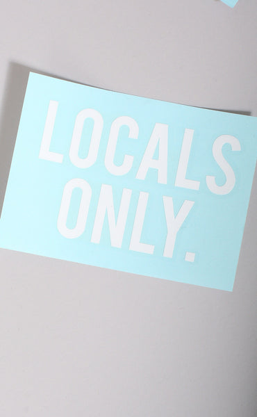locals only decal