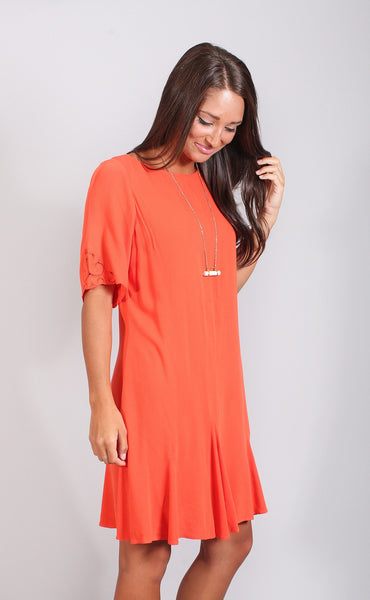 gentle fawn: feather dress - mandarin