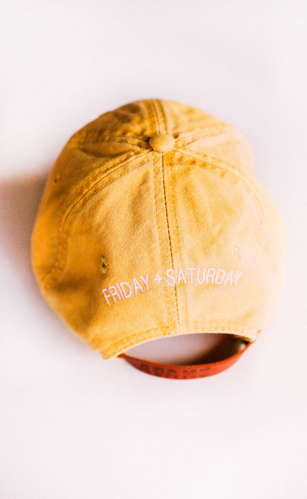 friday + saturday: mama hat - mustard