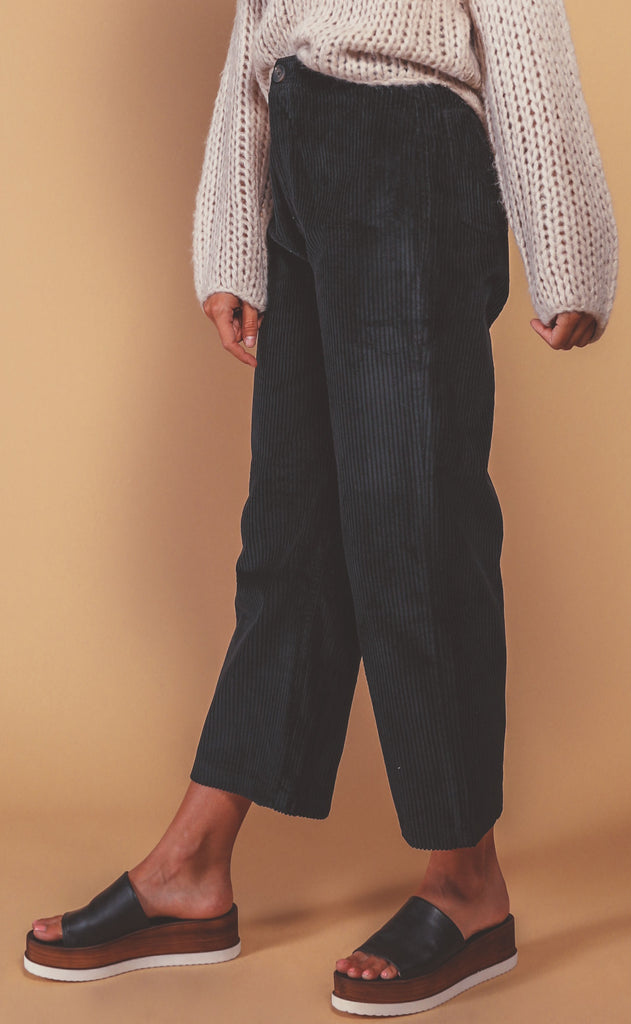 amuse society: good company wide leg pant - black